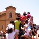 Santo davanti la Chiesa di San Calogero
